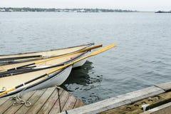 Trio de whaleboats entrados Fotos de Stock Royalty Free