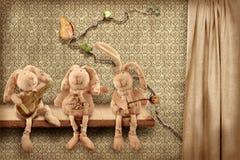 Trio dei conigli Fotografia Stock Libera da Diritti