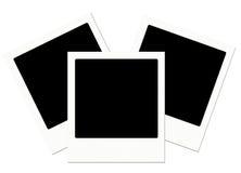 Trio dei polaroids Immagini Stock Libere da Diritti