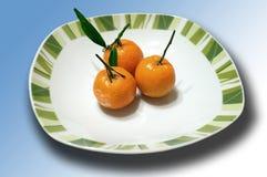 Trio del mandarino Fotografia Stock Libera da Diritti
