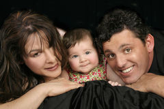 Trio della famiglia Fotografia Stock