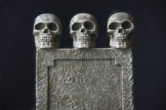 Trio della pietra tombale Fotografia Stock