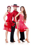 Trio der Tänzer lokalisiert Lizenzfreie Stockbilder
