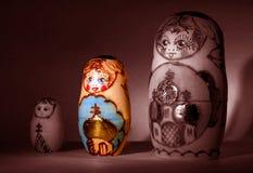 Trio di Babushka Fotografia Stock Libera da Diritti
