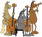 Trio di corda del cavallo Fotografia Stock