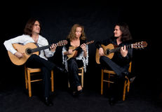Trio di musica Immagine Stock Libera da Diritti