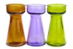 Trio di vetro colorato Immagini Stock