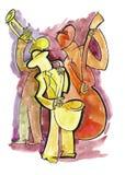 Trio do jazz na fase Imagens de Stock Royalty Free