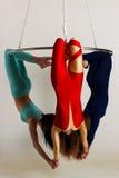 Trio do ` s da mulher no brilho aéreo Fotos de Stock Royalty Free