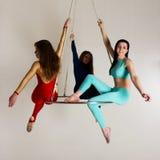 Trio do ` s da mulher no brilho aéreo Imagens de Stock