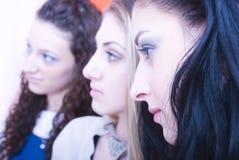 Trio dos adolescentes com atitude Foto de Stock Royalty Free