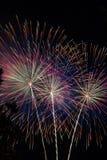 Trio dos fogos-de-artifício foto de stock royalty free