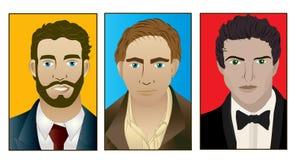 Trio dos homens Imagens de Stock