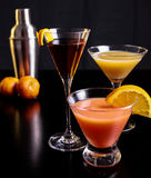 Trio of Drinks Royalty Free Stock Image