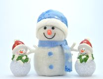 Trio du bonhomme de neige with0 Photographie stock