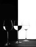 Trio en noir et blanc Photo stock