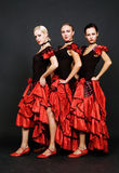 Trio espagnol attrayant photo libre de droits