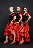 Trio espanhol atrativo foto de stock royalty free