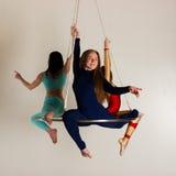Trio för kvinna` s på flyg- lyster Royaltyfria Bilder