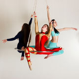 Trio för kvinna` s på flyg- lyster Royaltyfri Foto