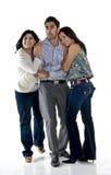 Trio felice immagine stock