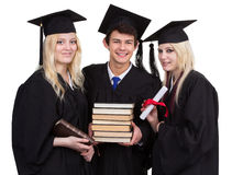 Trio graduation Royalty Free Stock Photography