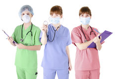 Trio of healthcare specialist Stock Photo