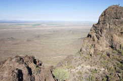 A Trio of Hikers in Picacho Peak State Park, Arizona Royalty Free Stock Photo