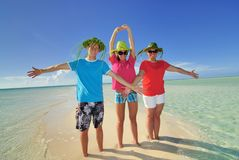 Trio on Island Stock Image