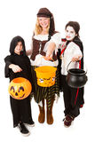 Trio of Kids on Halloween Stock Photography