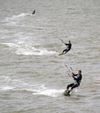 Trio of kite surfers Royalty Free Stock Photo