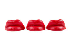 Trio of  LIps Stock Photos