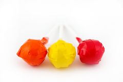Trio of Lollipops Stock Photos
