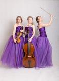 Trio med instrument Royaltyfria Foton