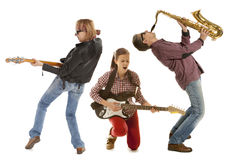 The trio of musicians Royalty Free Stock Photography