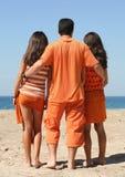 Trio orange Images libres de droits