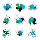 Trio paint splat Stock Photo