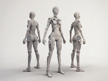 Trio. Of the robot girls Stock Image