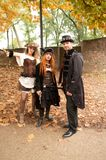 Steampunk trio at Lucca Comics and Games 2017 Stock Photo