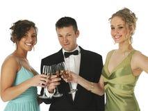 trio szampania Obraz Royalty Free