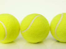Trio of tennis balls. Three tennis balls stock image