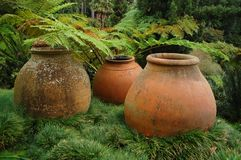 A Trio of urns Stock Image