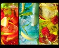 Trio van cocktails Royalty-vrije Stock Afbeeldingen