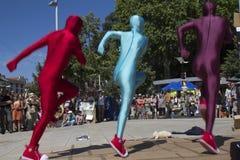 Trio van dansers Stock Foto's