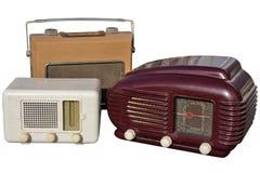 Trio van retro radio's stock afbeelding