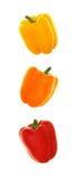 Trio vertical de pimentas de Bell Imagens de Stock Royalty Free