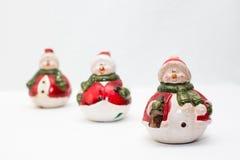 Trio von Schneemännern Lizenzfreies Stockfoto