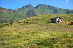 Triomen mount. The triomen mount, in the plateau of avaro, brembana valley Stock Photo