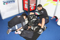 Triomf Daytona 675 het Team van de Macht door Suriano WSS Stock Fotografie