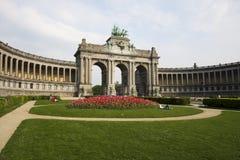 Triomfantelijke Boog in Brussel stock afbeelding